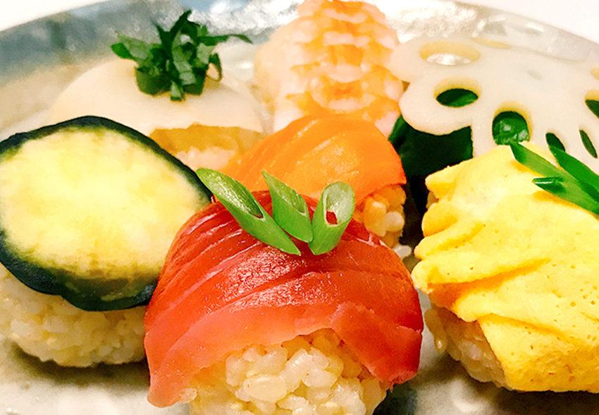 目と舌でおいしい!かわいい玄米手まり寿司のアイキャッチ