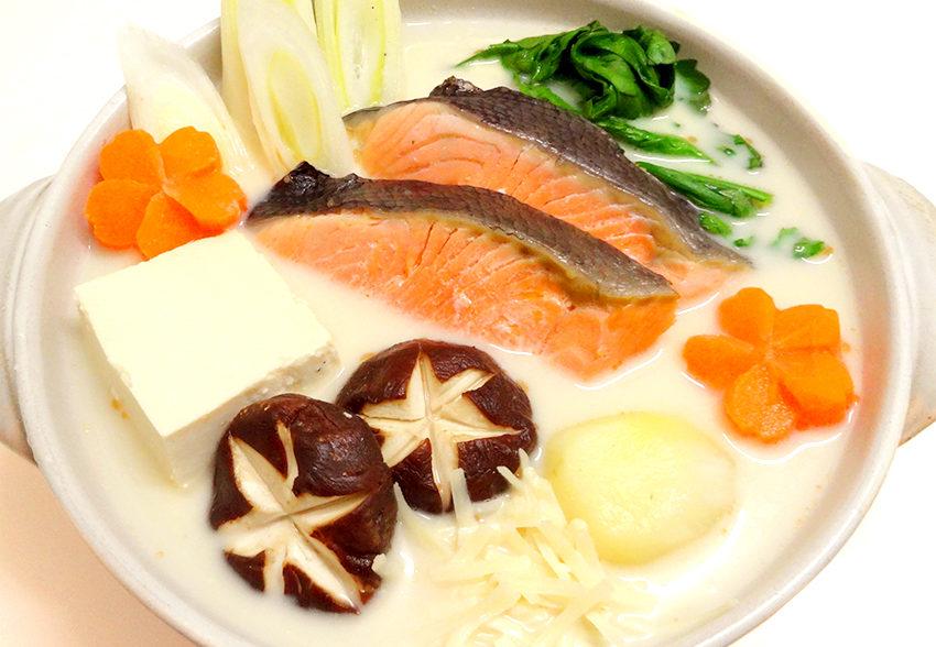 タンパク質・カルシウムたっぷり&ミルクで減塩! ミルクチーズ石狩鍋のアイキャッチ