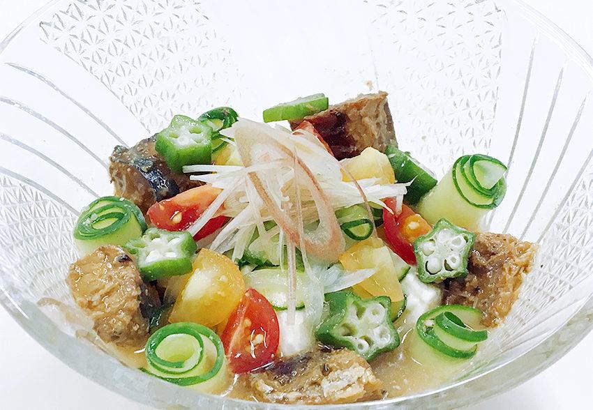 夏を乗り切るからだ作り「サバと豆腐のさっぱり冷や汁」のアイキャッチ