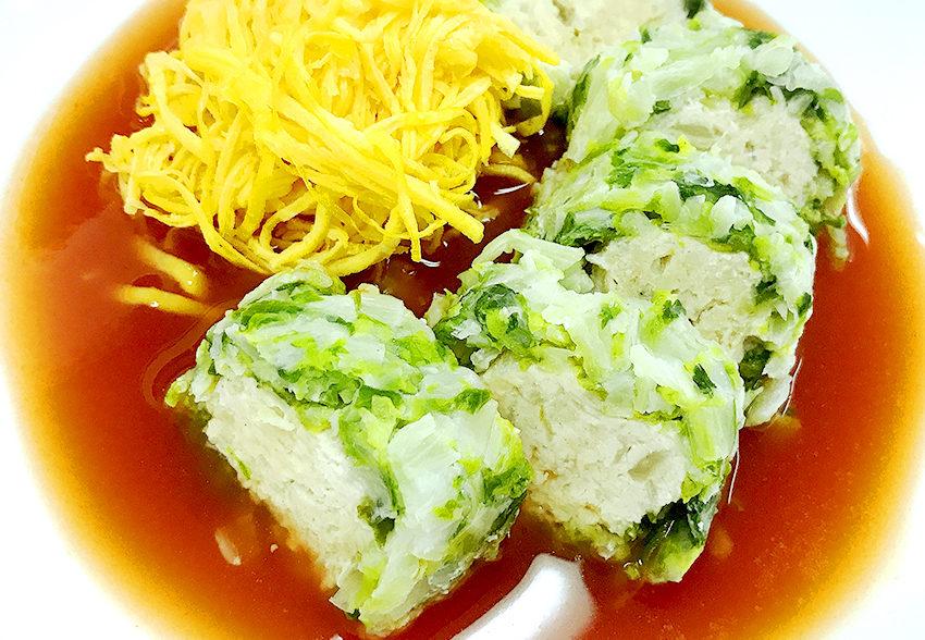 食べやすくてたんぱく質・ビタミンC豊富「ロール白菜」のアイキャッチ